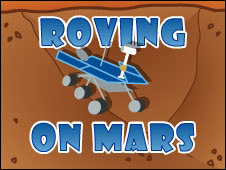 Screenshot of the Roving on Mars game