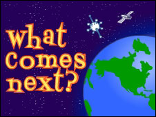 Screenshot of the What Comes Next? game