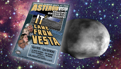 artist concept of movie poster spoof for 'It Came From Vesta'