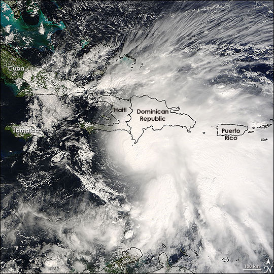 Satellite image of Tropical Storm Noel