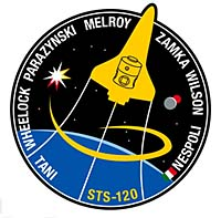 The mission patch for the STS-120 mission