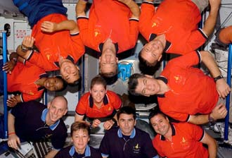 STS-120 and Expedition 16 crew members