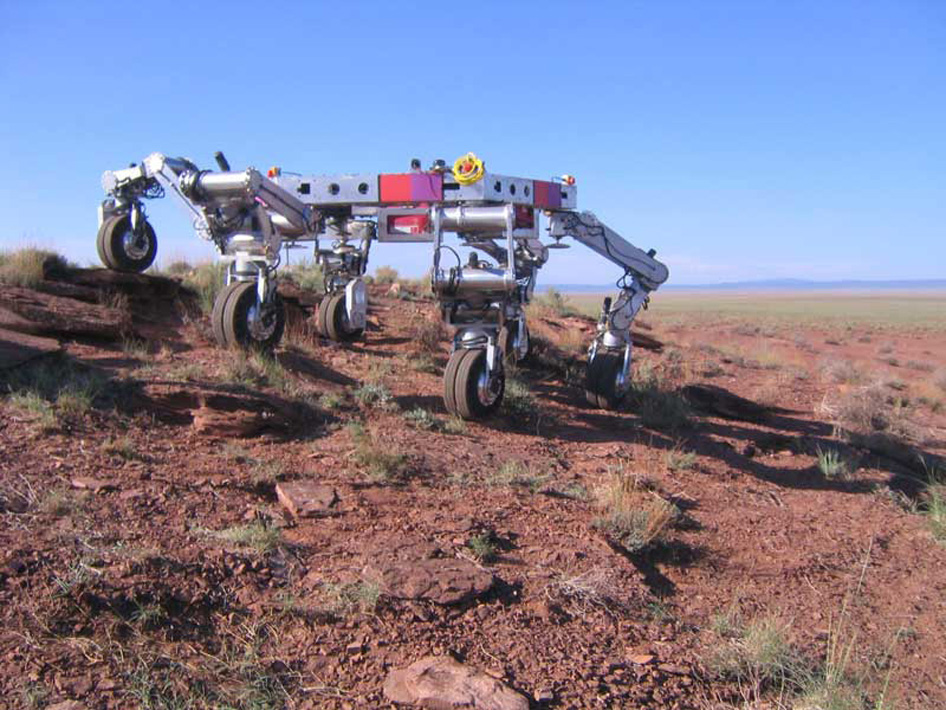 ATHLETE (All-Terrain Hex-Legged Extra-Terrestrial Explorer) robotic vehicle