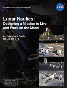 The front cover of the Lunar Nautics educator guide