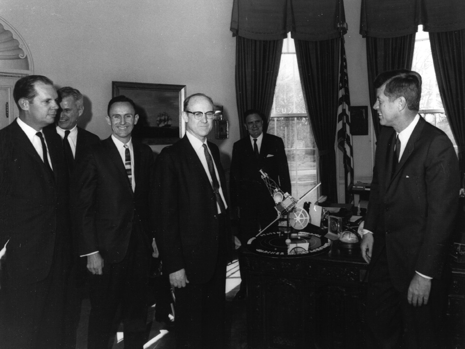 John F Kennedy Receives Mariner Model
