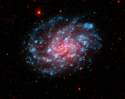 This image from NASA's Galaxy Evolution Explorer shows the galaxy NGC 300