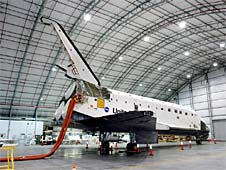 a nasa aircraft in hangar - photo #7