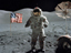 Astronaut Eugene Cernan on the moon during the Apollo 17 mission