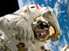 Astronaut during spacewalk.