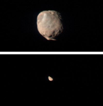 Mars' moons Phobos and Deimos