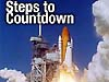 Steps to Countdown above an image of a space shuttle
