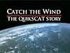 Title frame of the Catch the Wind video with a view of Earth from space