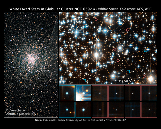 Hubble image of globular star cluster NGC 6397