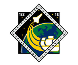 The STS-122 mission patch