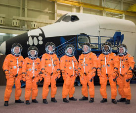 The STS-122 crew