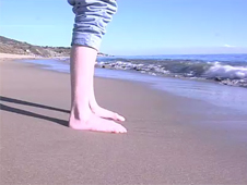 A person standing on a beach