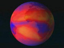 Climate visualization of Earth