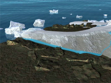 Image depicting coastal ice melting