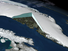 Image depicting thickness of Greenland ice sheet