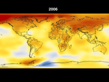 2006 global temperature map