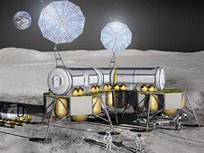 Lunar architecture, artist concept