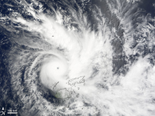 Satellite image of Tropical Cyclone Daman