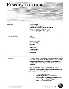 The first page of the Plan to Fly There activity