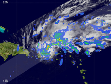 Satellite image of subtropical storm Olga
