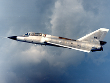 This F106B jet got struck by lightning 714 times during NASA's Storm Hazards Research Program