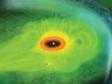 Artist Concept of Particle Population in Saturn's Magnetosphere