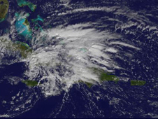 Satellite image of Tropical Storm Olga