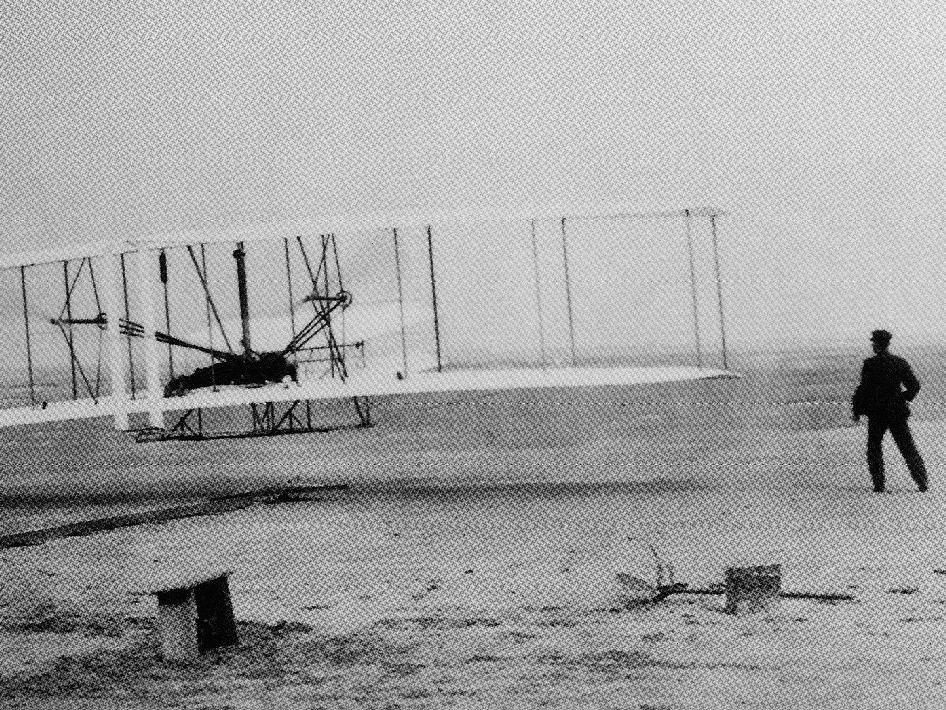 First flight of the Wright Brothers