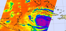 infrared images of Hurricane Dean