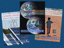 Covers of the three climate reports
