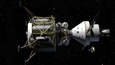 Lunar lander with Orion
