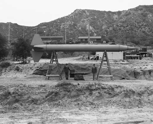 Corporal missile, which overshadowed a model of the much smaller Private