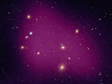 Part of a Hubble image of the supercluster dark matter map