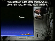 how far out in space is the space shuttle nasa