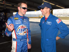 NASA astronaut Drew Feustel and NASCAR driver Kurt Busch discuss their high-speed professions.