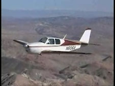 Small aircraft in flight
