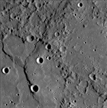 MESSENGER image of Mercury from January 20, 2008
