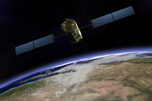 artist concept of Orbiting Carbon Observatory