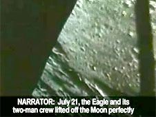 View of the moon as seen from the Eagle lunar module