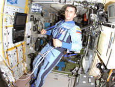 iss016e022535 -- Expedition 16 Flight Engineer Yuri Malenchenko