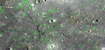 MESSENGER flew by Mercury and snapped images of a large portion of the surface that had not been previously seen by spacecraft.