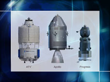 ATV Compared to Apollo and Progress Vehicles