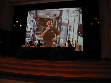 Photo of ISS uplink conversation.