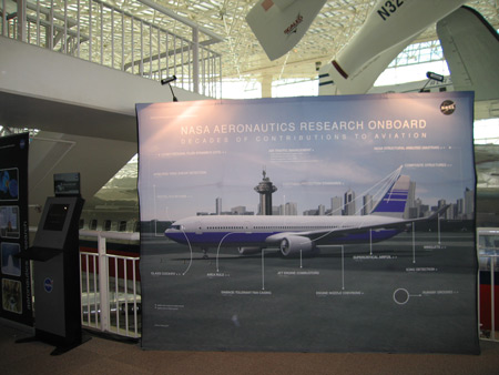 Photo of Aeronautics Resarch Spinoff display.