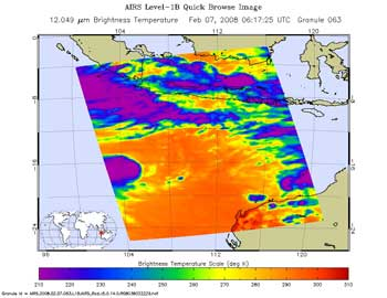 AIRS image of Tropical Cyclone 17S
