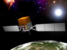 Artist's concept of the GLAST satellite